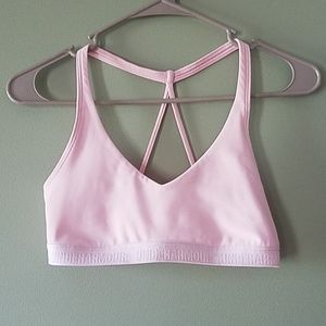 Under Armour Low pink sports bra